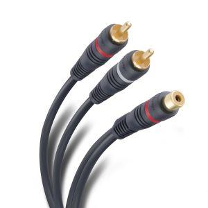 Cable RCA 2 conector a jack de 15 cm