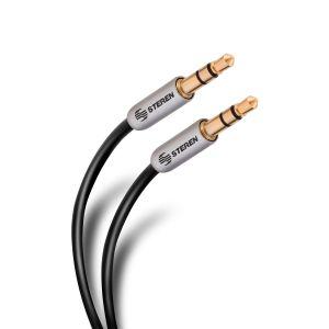 Cable auxiliar conector a conector 3,5 mm de 90 cm, ultradelgado y conectores reforzados