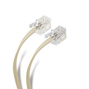 Cable plug a plug RJ11 de 30m, para extensión telefónica