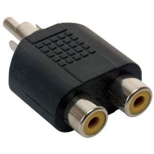 Adaptador de conector RCA a 2 jacks RCA