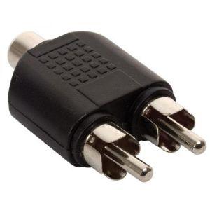 Adaptador de 2 conectors RCA a jack RCA