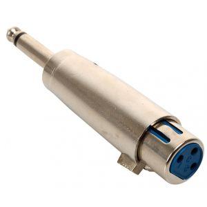Adaptador de conector 6,3 mm a jack Cannon, monoaural
