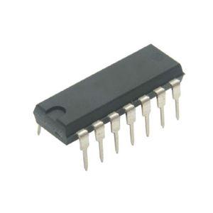 Circuito integrado TTL de 4 compuertas NOR de 2 entradas cada una
