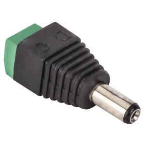 Adaptador plug invertido 2.1 mm a 2 terminales atornillables