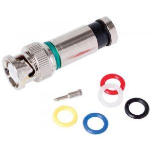 Conector macho BNC tipo PermaSeal-II para cable RG6