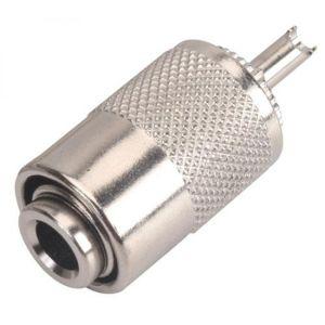 Conector macho UHF de soldar, para cable RG8, 58 ó 59