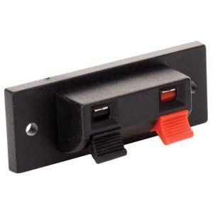 Conector con 2 terminales tipo push