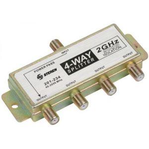 Splitter de 4 salidas, de 75 Ohms, 2 GHz, 90 dB