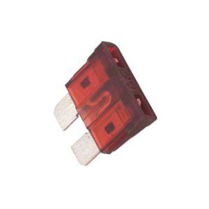 Fusible automotriz de 32 Vcc  10 A, rojo