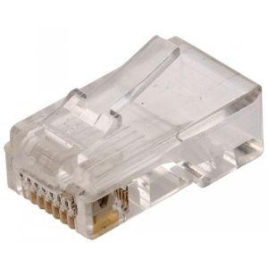 conector telefónico modular RJ45 de 8 toma corrientes para cable plano