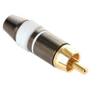 conector RCA metálico reforzado, blanco