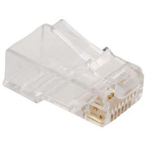 Plug RJ45 de 8 contactos CAT 5e, para cable redondo