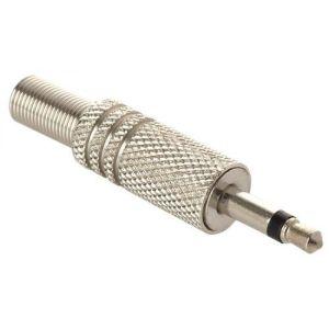 conector 3,5 mm monoaural, metálico