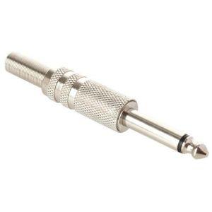 conector 6,3 mm monoaural, metálico