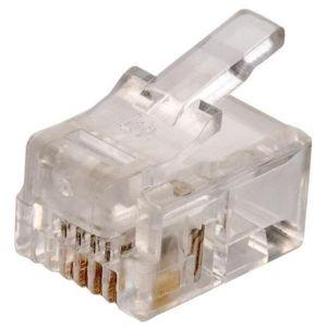 conector telefónico modular RJ11 de 4 toma corrientes para cable plano