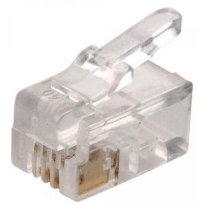 conector telefónico modular RJ9, de 4 toma corrientes