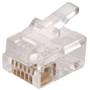 conector telefónico modular RJ12 de 6 toma corrientes para cable plano