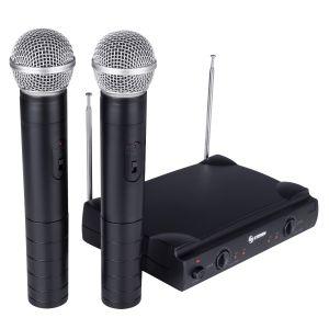 Sistema de 2 micrófonos inalámbricos VHF