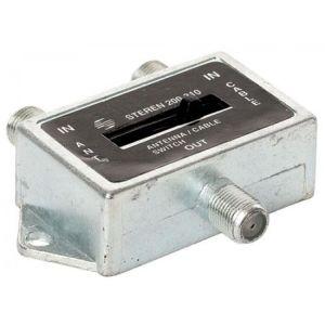 Switch AB con palanca de 2 entradas a 1 salida, con conectores tipo F