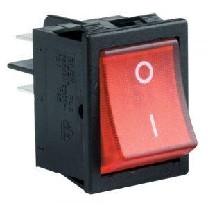 Switch de balancín, de 2 polos, 1 tiro, 2 posiciones, con piloto