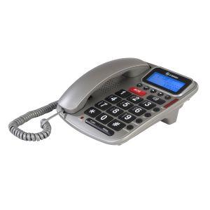Teléfono con teclado grande y pantalla