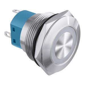Switch de retención con contacto NC/NA e iluminación verde