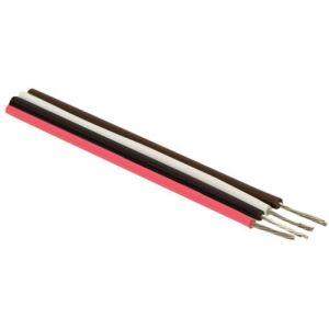 Cable estañado para conexiones, 22 AWG, color rojo