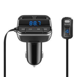 Transmisor FM Bluetooth con noise cancelling, cargador USB y reproductor MP3