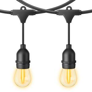 Serie LED vintage de 24 focos para exterior