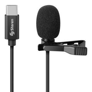 Micrófono USB C de solapa para celular
