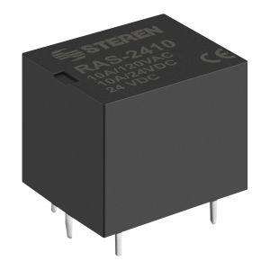 Relevador compacto de 1 polo, 2 tiros (SPDT) y bobina de 24 Vcc